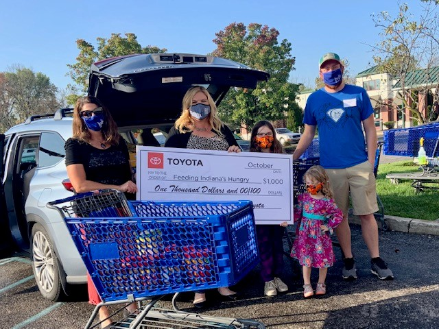 Indy with Kids and Toyota Partnership = Food Donation!
